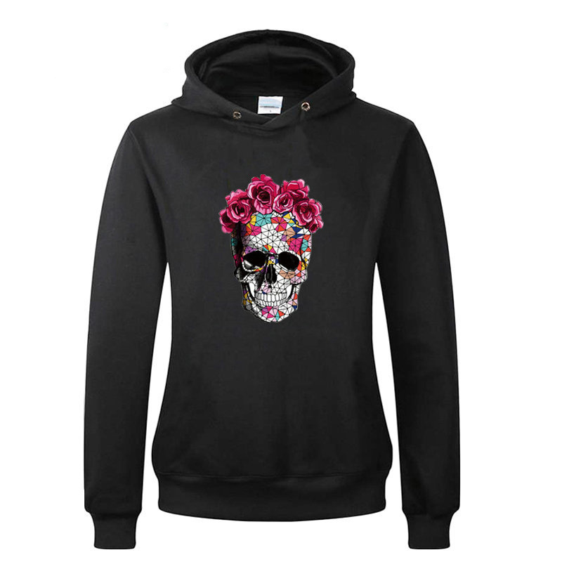 Rose Skull Iron On Patch A Level Washable 2018 New Easy Print By Household Irons T Shirt Diy Decoration Parches Ropa Applique in Patches from Home Garden