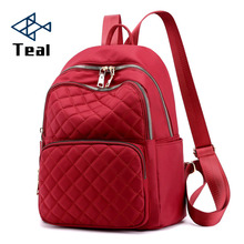 2019 Fashion Women Oxford backpack Lingge Mochilas Mujer Waterproof Student Bag Travel Casual Backpack Outdoor
