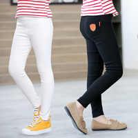 Funfeliz Pantaloni Della Matita per le Ragazze 2019 di Estate di Autunno Dei Bambini Pantaloni Per Bambini Pantaloni Scarni Elastici di Colore Solido Vita Alta 3T -14T
