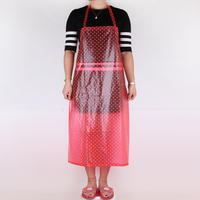 Transparent Dots PVC Sleeveless Apron Waterproof Apron Oil Bibs Household Cleaning Tools Accessories Apron For