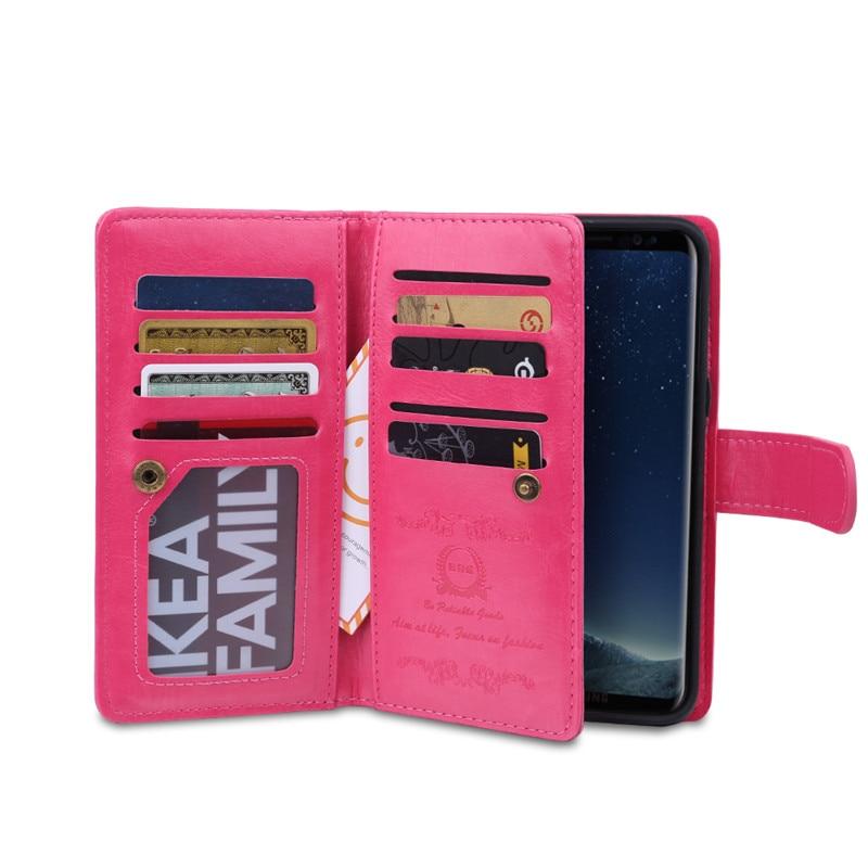 Samsung S8 Plus Case- ի շքեղ դրամապանակի կաշվե - Բջջային հեռախոսի պարագաներ և պահեստամասեր - Լուսանկար 6