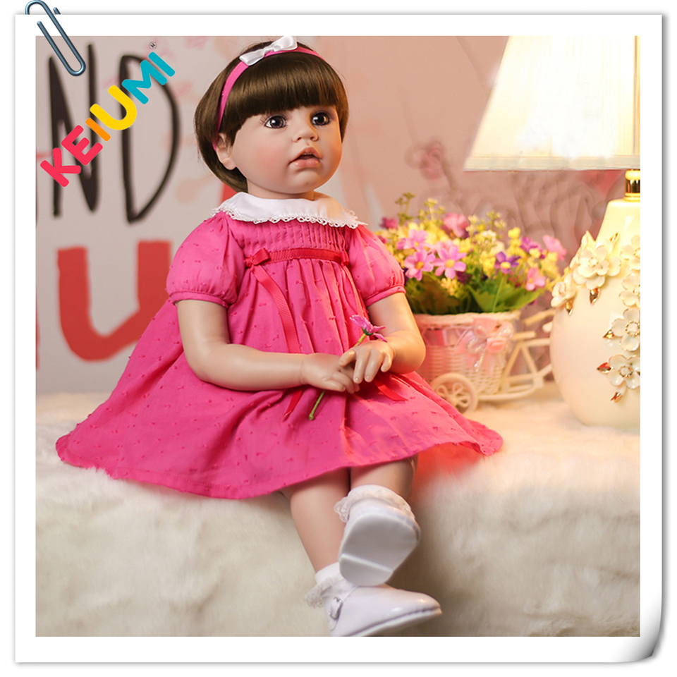 Lifelike 22 Inch KEIUMI Stuffed Dolls Soft Silicone Baby Reborn 55 cm Girl Playmate Reborn Baby Dolls For kids Birthday Gifts edtid 220v 60w 500ml capacity automatic ice cream machine diy fruit ice cream machine self cooling children frozen dessert