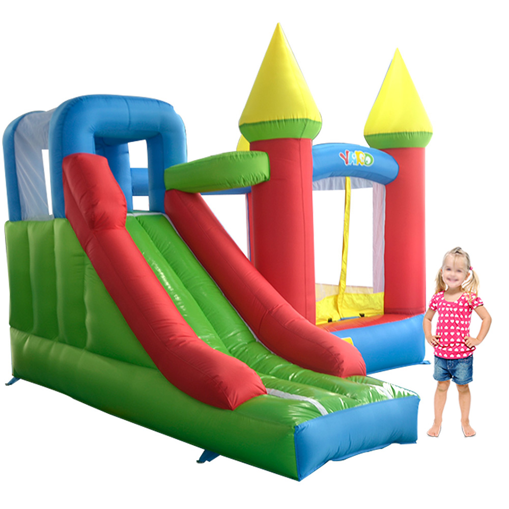 YARD trampoline for children Bouncy Castle inflatable toys for kids Smooth Slide trampolines bounce house Bouncer with Blower children shark blue inflatable water slide with blower for pool