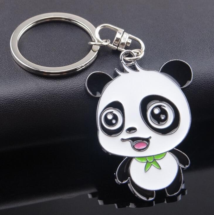 Panda Key chain New Cute Panda Keychain for Bag Car Key Ring Tourism Souvenir Gifts Key chains kiss wife 2016 hot sale men key ring key chain silver bicycle keychain for car metal key chains