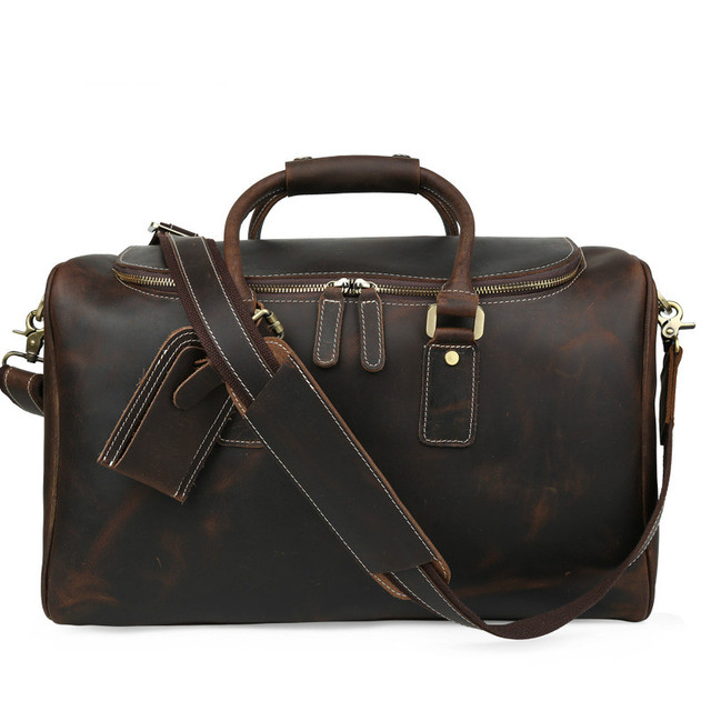 Luxury Fashion Genuine Leather Duffle Bag For Men Women Travel Luggage Bags Designer Weekend Top