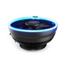 цена на PcCooler 12cm 4Pin Fan Cooler LED Blue Aperture CPU Cooling Fan PWM Silent Radiator For Intel LGA 775/115X for AMD AM2 AM3 AM4