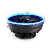 PcCooler 12cm 4Pin Fan Cooler LED Blue Aperture CPU Cooling Fan PWM Silent Radiator For Intel LGA 775/115X for AMD AM2 AM3 AM4 стоимость