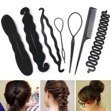 Magic Hair Styling Twist Bun Maker Hairpins Hairdisk Meatball Head Black Accessories for Women Braiding Tools