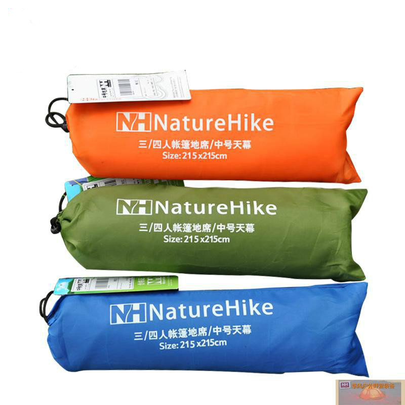 Portable Naturehike 2.15X2.15M Outdoor Camping Tent Waterproof Cloth Sunshade Cloth Canopy Beach Blanket Oxford Picnic Mat