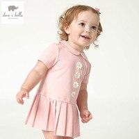 Db4724 dave bella été bébé filles sweet robe rose mignon robe bébé belle robe enfants toddle enfants lolita style costumes