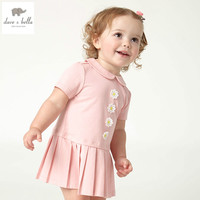 DB4724 Dave Bella Summer Baby Girls Sweet Dress Pink Cute Dress Baby Lovely Dress Kids Toddle