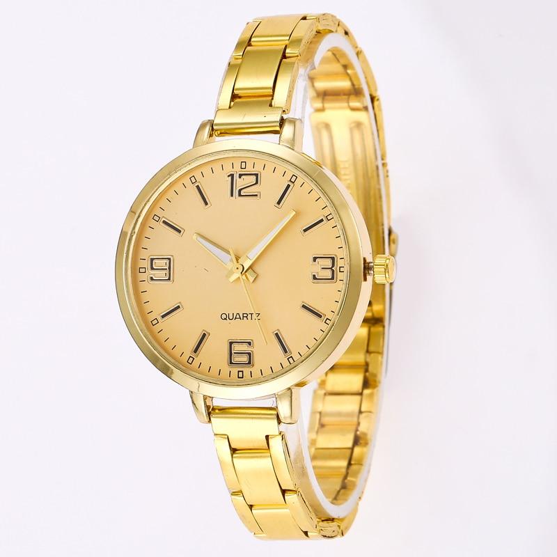 2018 NEW Women Watch Brand Fashion Quartz Stainless Steel Wristwatch Clock Watches saat Relogio Masculino Reloj Mujer kol saati