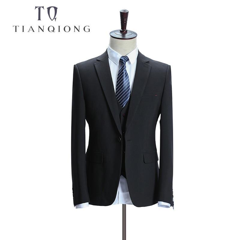 Tian QIONG Burra Dasma për burra Kostume të hollë Fit 3 copë me - Veshje për meshkuj - Foto 2
