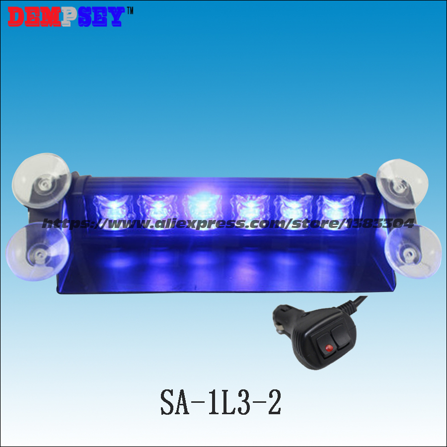 SA-1L3-2 Car Window Absorbed LED Flashing Lamp/Winnowing Pan Shape Blue LED Warning Light/Ambulance LED Strobe Lights 3 mode blue light led flashing dog collar blue 2 x cr2016