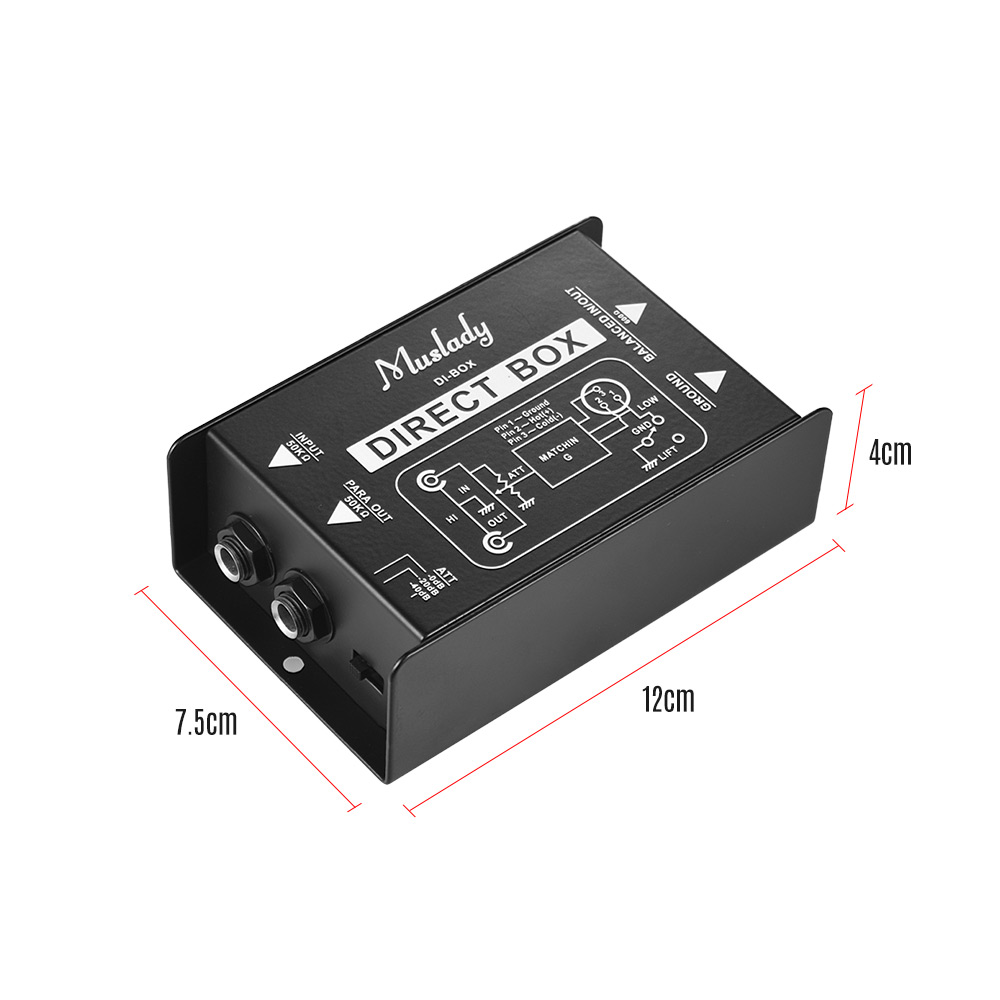 Image 5 - Muslady Single Channel DI Box Direct Injection Audio Box Signal Converter with XLR TRS Interfaces for Electric Guitar Bass Live-in Guitar Parts & Accessories from Sports & Entertainment