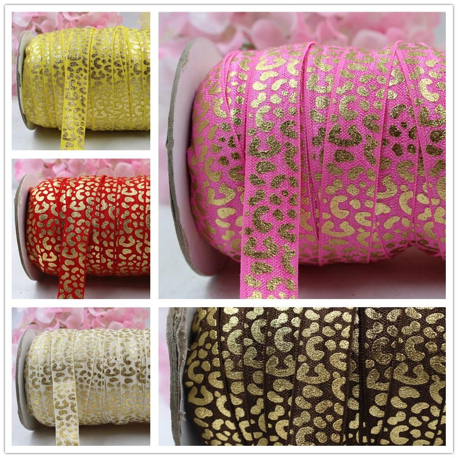 "Hot Pink//Pale Pink//Cream 5//8/"" Grosgrain Leopard Print Ribbon Animal Print"