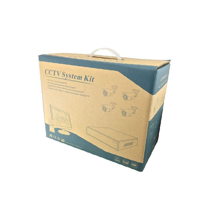 Poe 1080P network IP camera 2MP 4IR light metal night outdoor waterproof 4CH POE NVR P2P ONVIF Security Kit