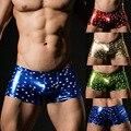 Color sexy cómodas bragas cuecas boxeador de los hombres 2017 de la marca de moda masculina hombres boxers underwear calzoncillos de nylon estrella al por mayor