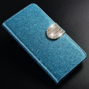 Image 3 - 1 кожаный чехол книжка с блестками для телефона Huawei Honor 8X, роскошный высококачественный чехол бумажник с подставкой, чехол со вспышкой на солнце