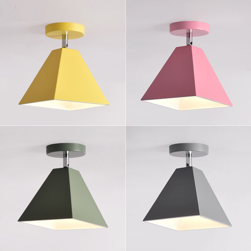 Nordic wrought iron small ceiling lamp modern minimalist foyer corridor stairs ceiling light color bedroom aisle lamps mx6111034