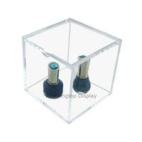 Acrylic Cube Display Box Jewelry Window Show Storage Containers