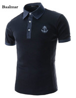 Summer Men Turn Down Collar Polo Shirt Embroidery Logo Solid Polo Shirt Business Casual Polo Shirt