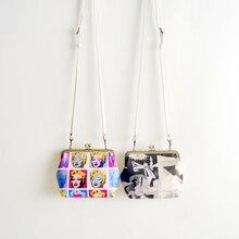 original design handmade Vintage retro fashion picasso oil painting women's summer bag monroe picture bag clip small chain bag