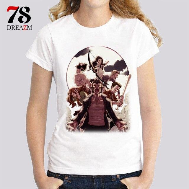 3d53ff9c220ff Camiseta adolescente del lobo mujeres cómic impresión camiseta manga corta  blanco camiseta mujer verano casual o