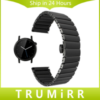 20mm Full Ceramic Watchband For Moto 360 2 42mm Samsung Gear S2 Classic R732 R735 Watch