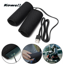 KOWELL 5V 2A Universal USB Power Motorcycle Handlebar Grips Heated Wrap Handle Bar Heater Warmer Scooter Winter Accessories Hot