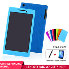 SZOXBY For Lenovo TAB 2 A7-20F Silicone Case 7 Tablet Case A7-20F Case Cover Soft Shell Shockproof Back Child Silicone Cover customized colorful tpu soft silicone case cover shell for 7 colorfly e708 3g digma hit ht7070mg tablet free shipping
