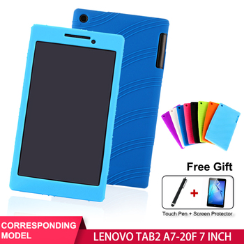 SZOXBY For Lenovo TAB 2 A7-20F Silicone Case 7 Tablet Case A7-20F Case Cover Soft Shell Shockproof Back Child Silicone Cover цена 2017