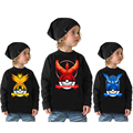 Winter Children Clothing  1Pc Hooded Pullover Boy Pokemon Go Clothes Hoodies Boy Outwear t shirts kids clothing tee boys outwear