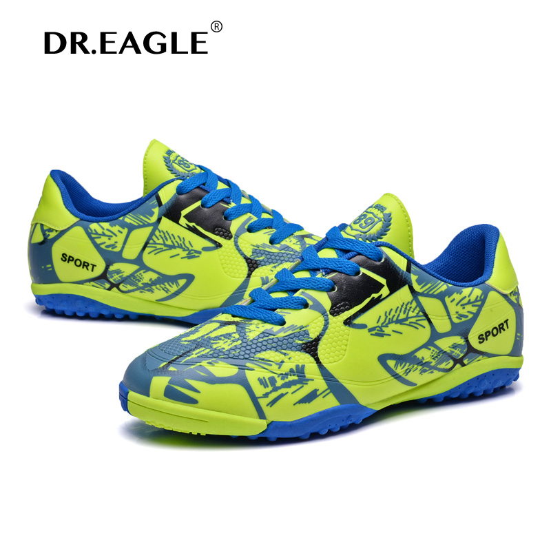 [Disc 0%] DR.EAGLE Kids Football Shoes for Children Indoor futzalki Shoe Futsal Football Sneakers Soccer Shoes Kids soccer Boots Cleats