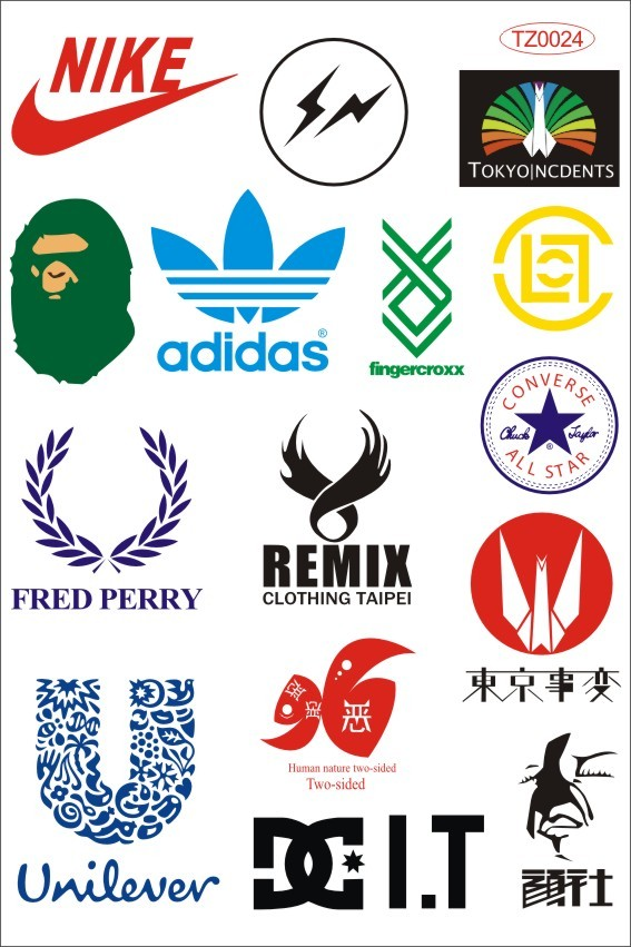 Top sport brand skateboard stickers waterproof sunscreen car styling stickers doodle motorcycle bicycle stickers mini order 5