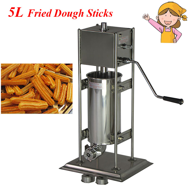 Commercial Electric Vertical Type Spain Churros Extruder Machine Fried Dough Sticks/ Spain Snacks Latin Fruit Maker BG-5L cife spain business cife spain business набор для детского творчества deco frenzy дневник мечты