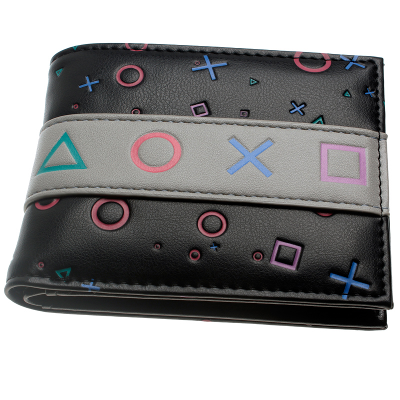Playstation Console Bifold PU Wallet DFT-10096 playstation console shaped bifold pu wallet dft 10101