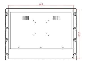 8U монитор для крепления в стойку, 17-дюймовый промышленный ЖК-монитор