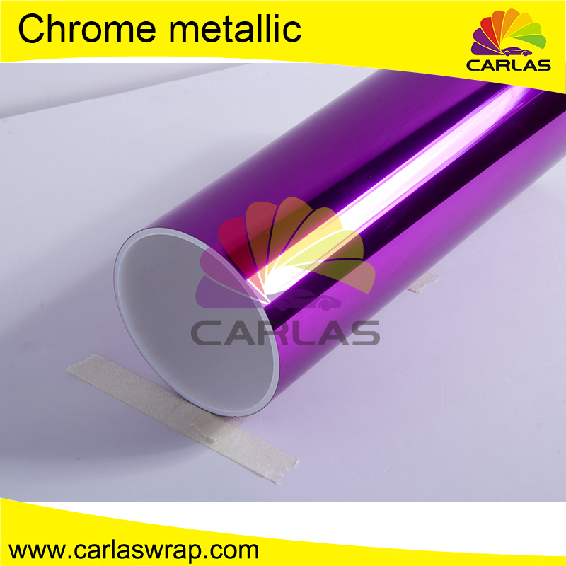 1.52m*20m Chrome Silver Mirror Vinyl with Bubble Free for Gloss Foil Vinyl Wrap Film Free Shipping