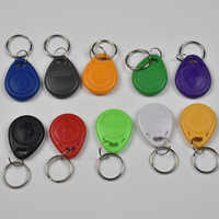 500pcs/lot 125KHz proximity ABS key tags RFID key fobs for access control rewritable hotel T5577 chip