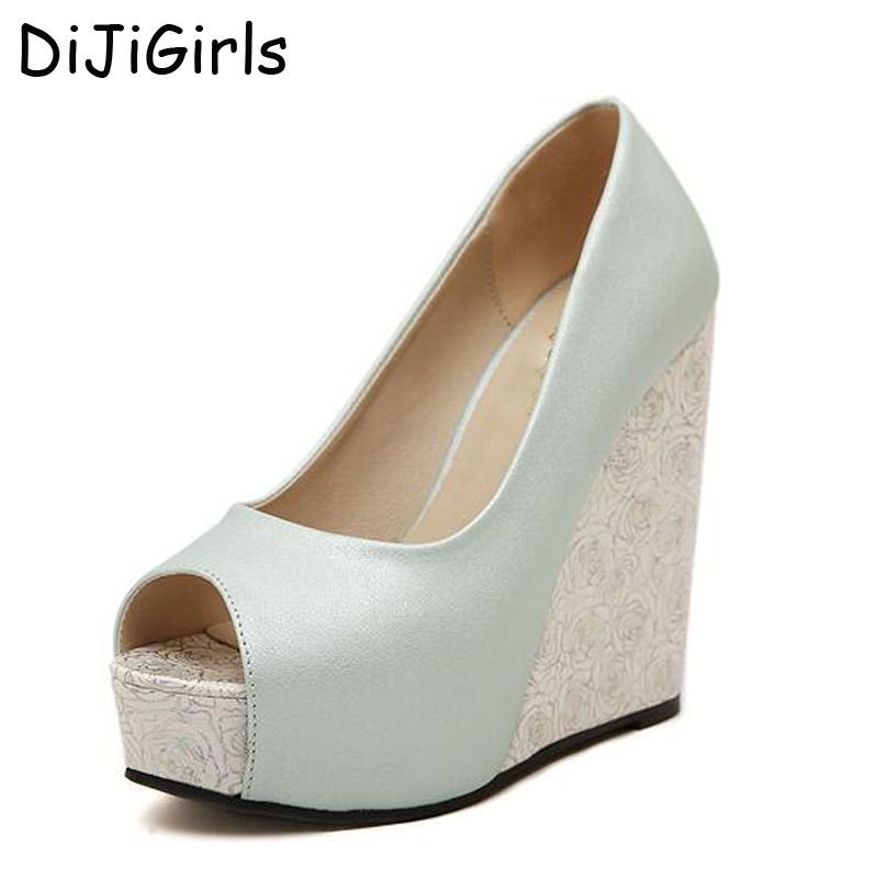 New 2017 Summer Fashion Women Wedge Sandals Brand Rome Casual Fashion Platforms Ultra High Heels Open Toe Shoes Women Pumps D59 nayiduyun summer wedge high heels women casual platform pumps round toe breathable summer sneakers sandals school shoes chic