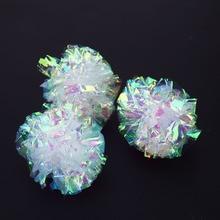 12pcs Mylar Crinkle Balls Cat Toys Interactive