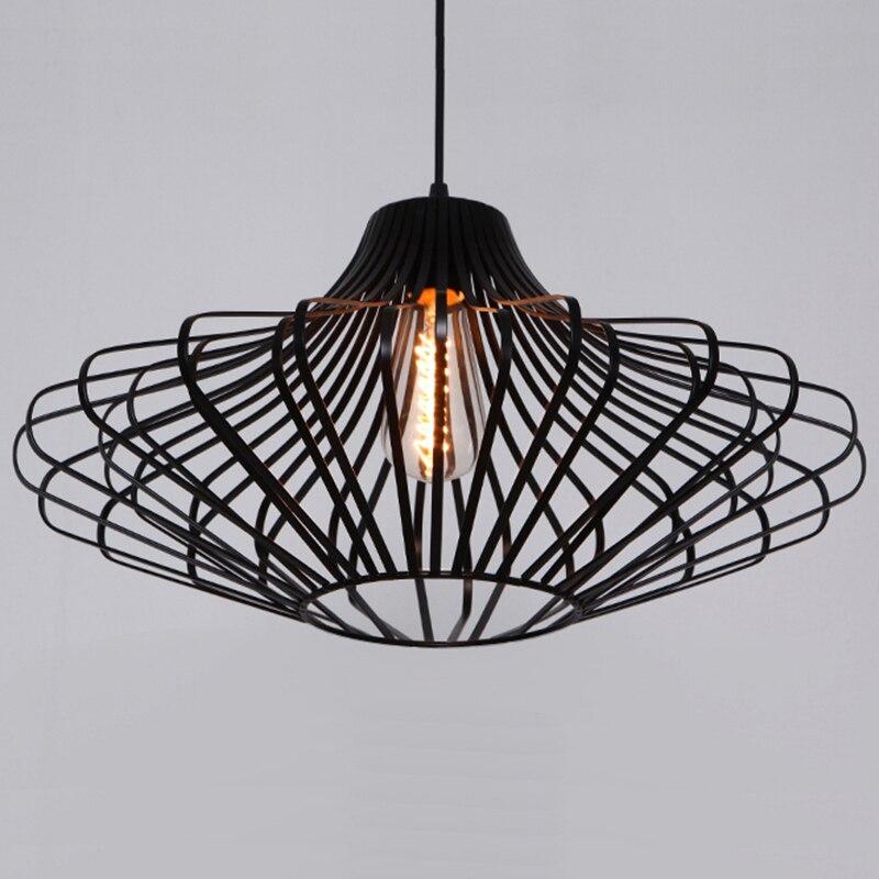Черный Лофт Подвесные светильники Nordic Ретро промышленное освещение Эдисон Лампы Винтаж свет industrie hanglampen светильники Светильник