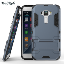 WolfRule sFor Cover Asus Zenfone 3 ZE552KL Case TPU & PC Holder Shockproof Mobile Phone Case For Asus Zenfone 3 ZE552KL Cover <