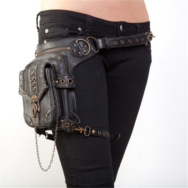Vintage Steampunk Bag Steam Punk Retro Rock Gothic Retro bag Goth Shoulder Waist Bags Packs Victorian Style Women Men leg bag chrismas gift steampunk bag steam punk retro rock gothic bag goth shoulder waist bags packs victorian style women men leg