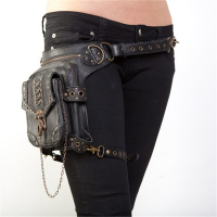 Vintage Steampunk Bag Steam Punk Retro Rock Gothic Retro bag Goth Shoulder Waist Bags Packs Victorian Style Women Men leg bag