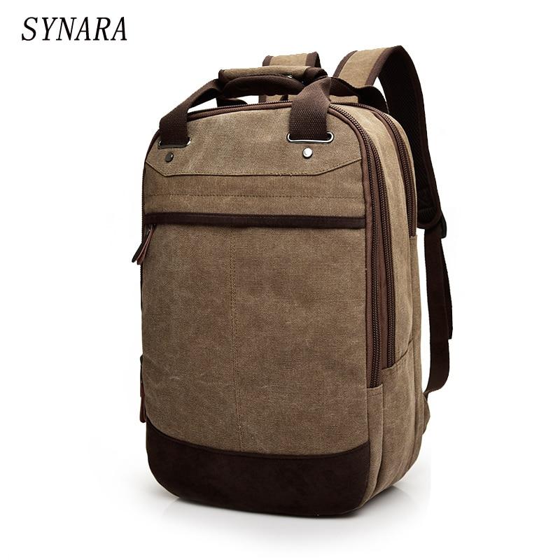 Tigernu Canvas  Bag 14.1Inch Laptop Notebook Mochila For Back Pack School Backpack Bag