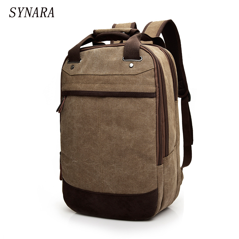 2017 Tigernu Canvas Men's SYNARA Bag Brand 14.1Inch Laptop Notebook Mochila for Men Back Pack school backpack bag 2017 new kaka brand men s backpack bag brand 15 6 inch laptop notebook mochila for men waterproof back pack school backpack bags