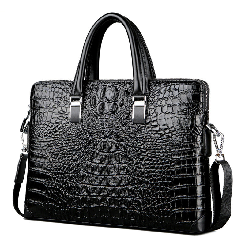 Muster Aktentaschen Männer Mode Limited Alligator Qualität Luxury Black Leder Handtasche Edition echtes blue Perfekte brown Aktentasche Rindsleder OfqStwC