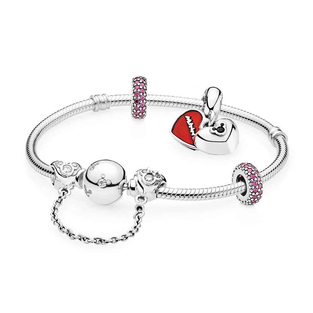 EDELL Book Di 100% 925 Sterling Silver Mi in Lovers Jewelry Gift Set fit DIY Original charm Bracelets jewelry A set of prices